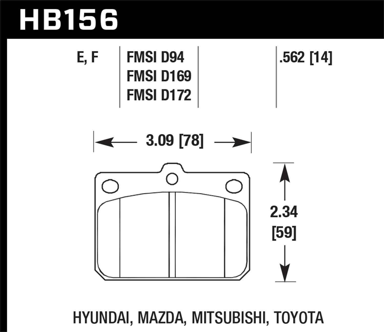 HAWK PERFORMANCE - HPS Disc Brake Pad - HWK HB156F.562