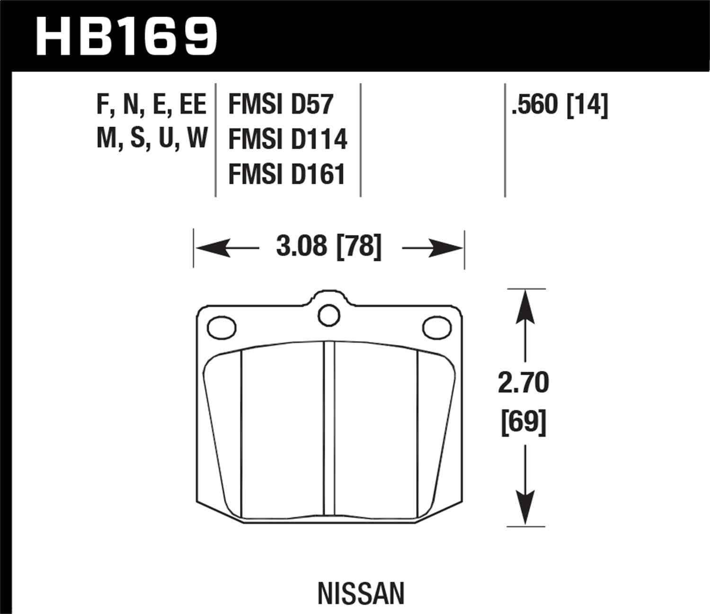 HAWK PERFORMANCE - HP Plus Disc Brake Pad (Front) - HWK HB169N.560