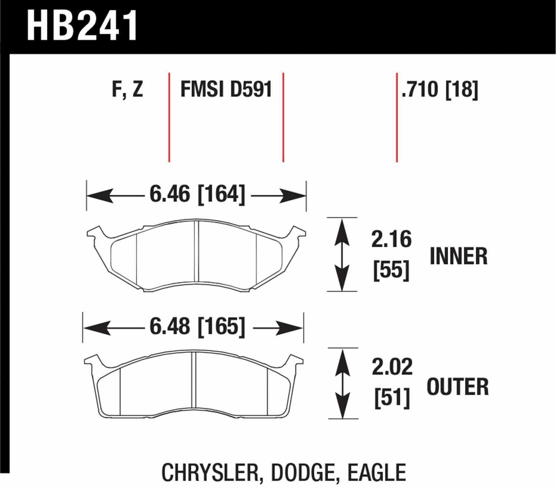 HAWK PERFORMANCE - HPS Performance Street Disc Brake Pad - HWK HB241F.710