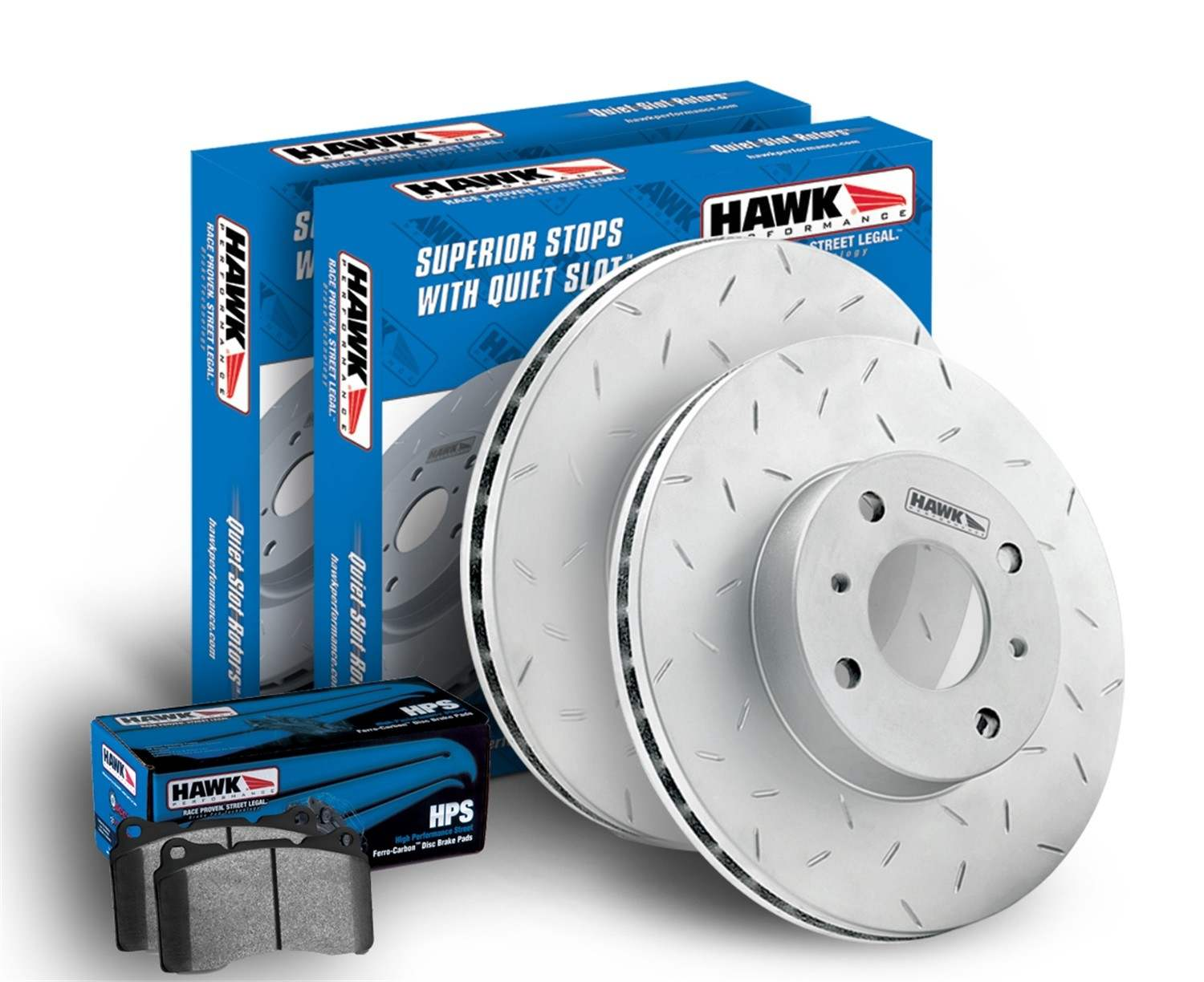 HAWK PERFORMANCE - HPS Disc Brake Pad & Rotor Kit (Rear) - HWK HKF945626