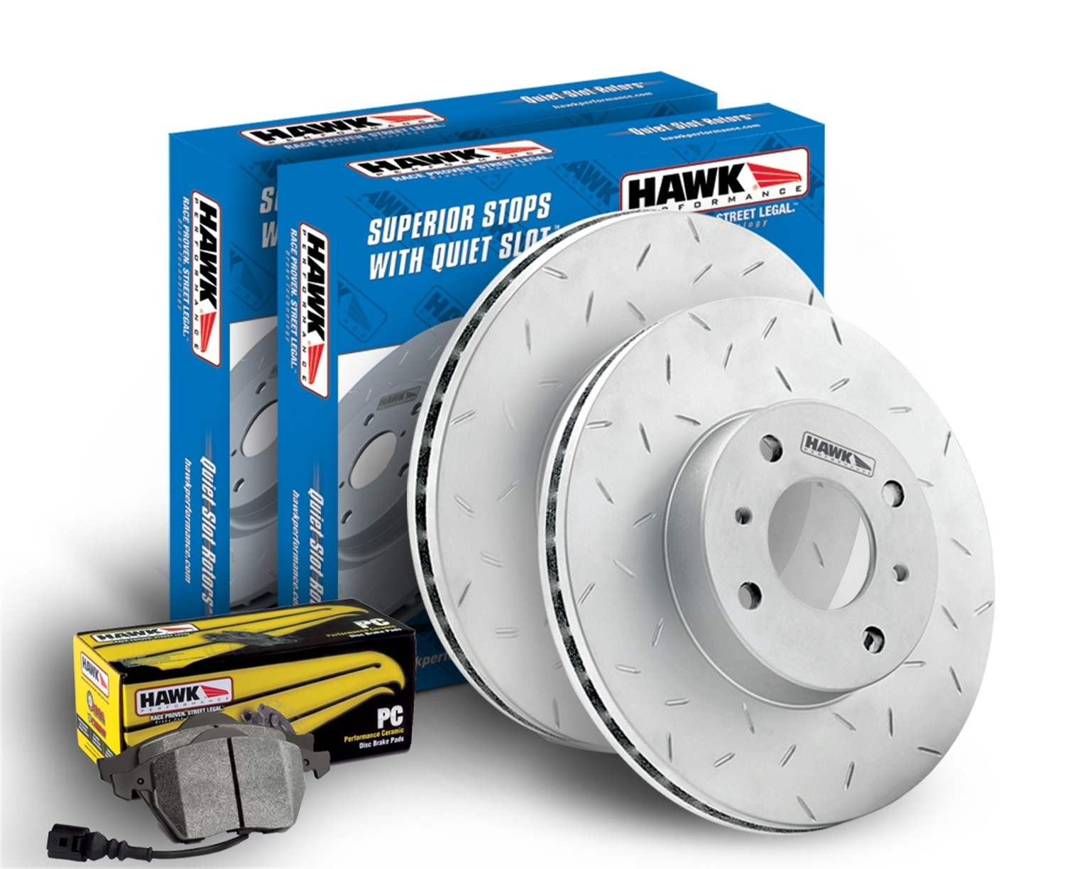 HAWK PERFORMANCE - Performance Ceramic Disc Brake Pad & Rotor Kit (Rear) - HWK HKZ308350