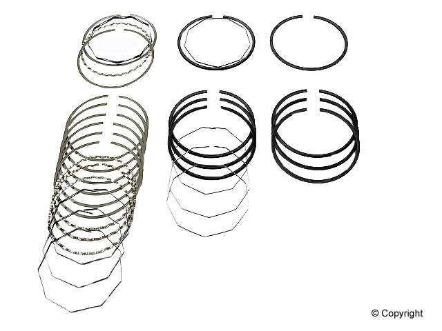Deves - Deves Engine Piston Ring Set - WDX 061 06012 599