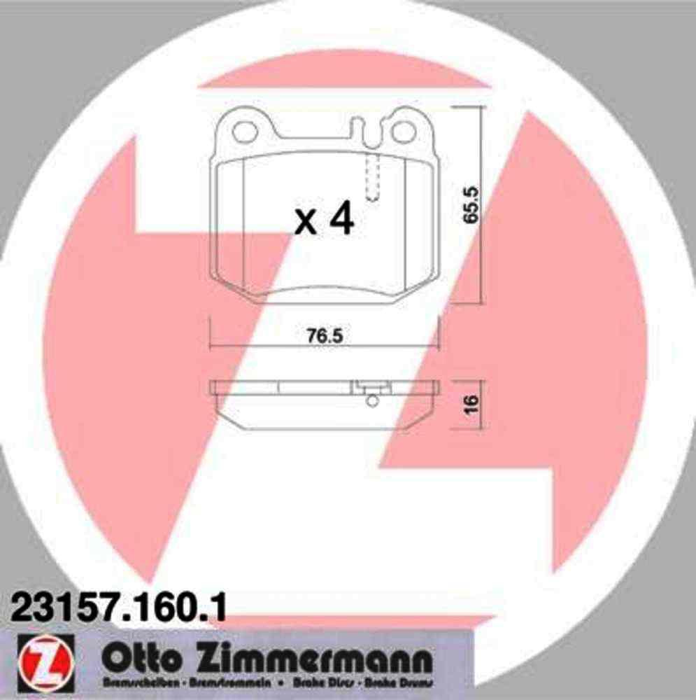 Zimmermann -  Disc Brake Pad Set - WDX 520 08740 398
