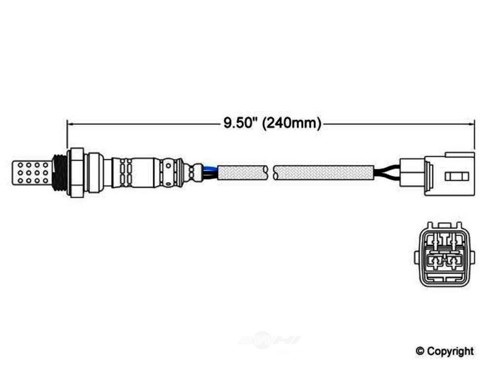 Walker -  Oxygen Sensor (Front) - WDX 800 30015 745