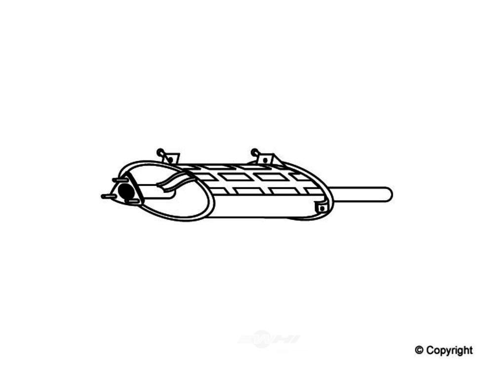 Original -  Performance Exhaust Muffler - WDX 251 50003 501