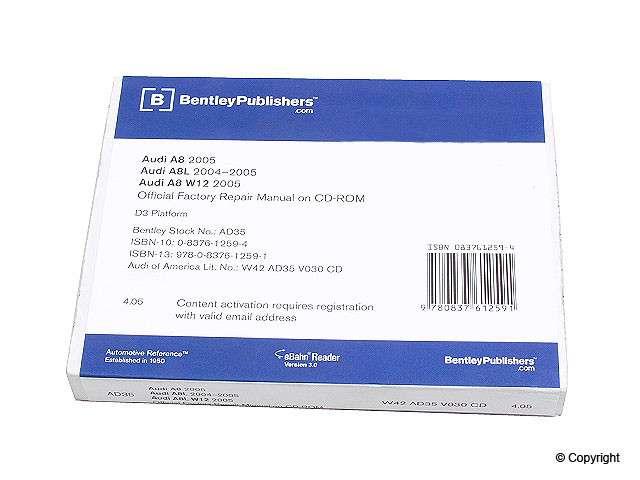 Bentley - Bentley CD-ROM Repair Manual - WDX 989 04021 243