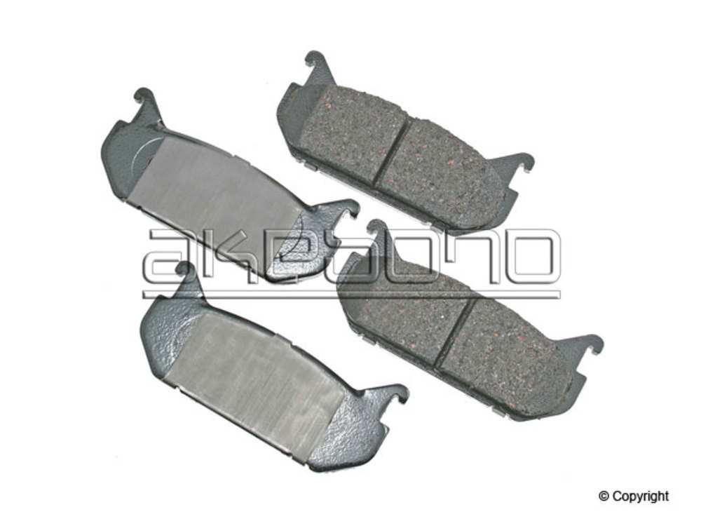 Akebono -  ProACT Disc Brake Pad Set (Rear) - IMM ACT584