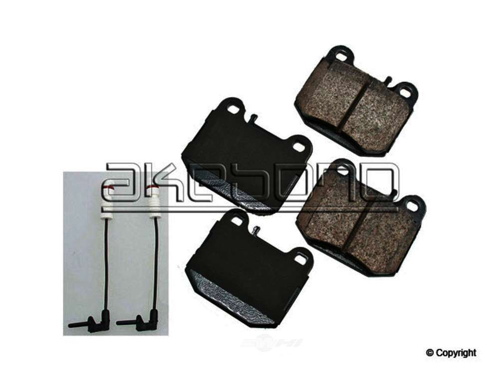 Akebono -  Euro Disc Brake Pad Set - WDX 520 08740 432