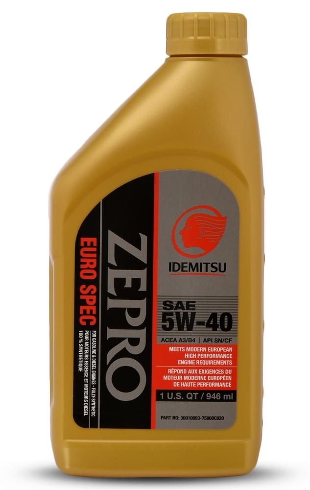IDEMITSU - ZEPRO EURO SPEC 5W-40 - IMU 30010093-75000C020
