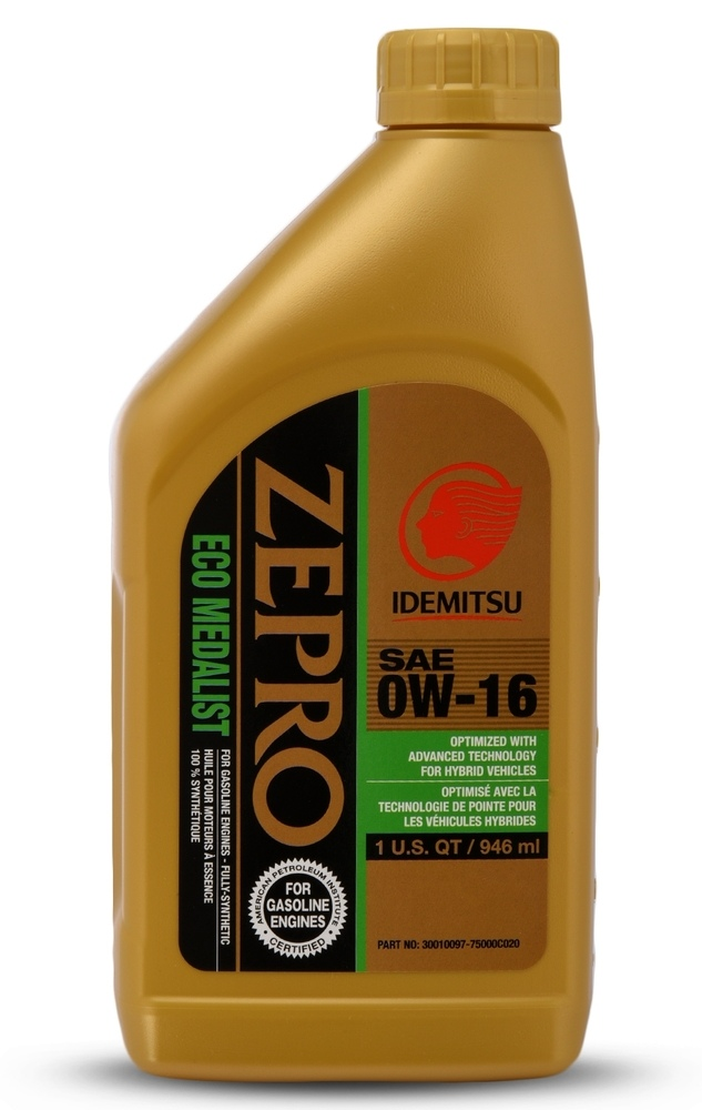 IDEMITSU - IDEMITSU ZEPRO ECO 0W16 Motor Oil - 1 qt - IMU 30010097-75000C020