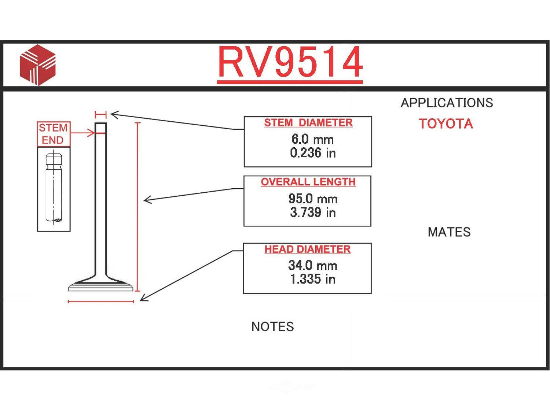 ITM - Engine Intake Valve - ITM RV9514