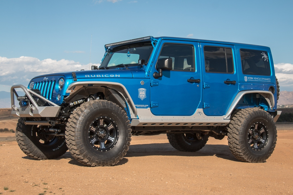 ICON VEHICLE DYNAMICS - 2007-Up Jeep JK 4.5-6^ Lift STAGE 2 COILOVER CONVERSION SYSTEM WITH 2.0 - IVD K25042