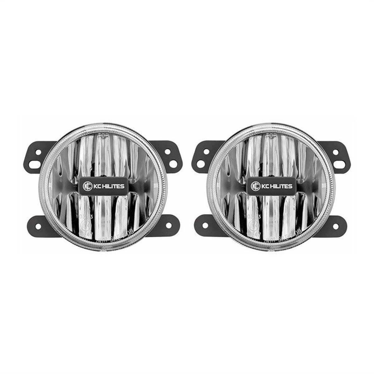 KC HILITES DRIVING LIGHT SYSTEMS - Gravity LED G4 Fog Light Pair Pack System-Amber-Jeep JK(2010 - 2018) - KCH 498