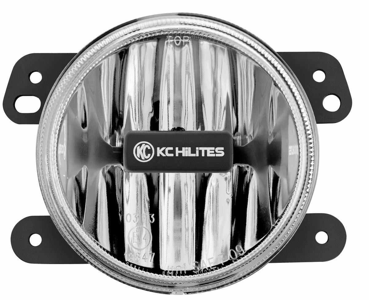 KC HILITES DRIVING LIGHT SYSTEMS - Gravity LED G4 2010-2018 Jeep JK LED Fog Clear Single - #1497 - KCH 1497