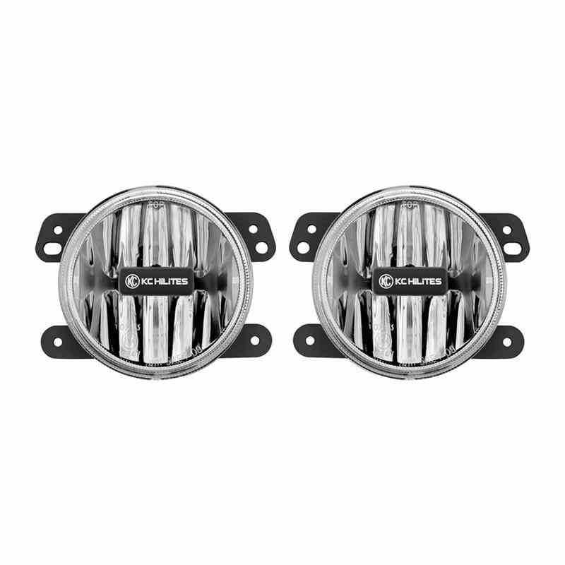 KC HILITES DRIVING LIGHT SYSTEMS - Gravity LED G4 Fog Light Pair Pack System - JK - KCH 497