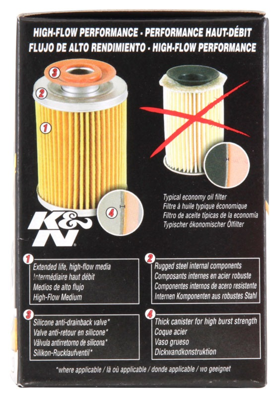 K&N FILTER - Engine Oil Filter - KNN HP-1010