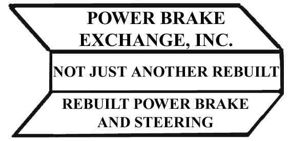 POWER BRAKE EXCHANGE - Power Brake Booster - PBX 80121