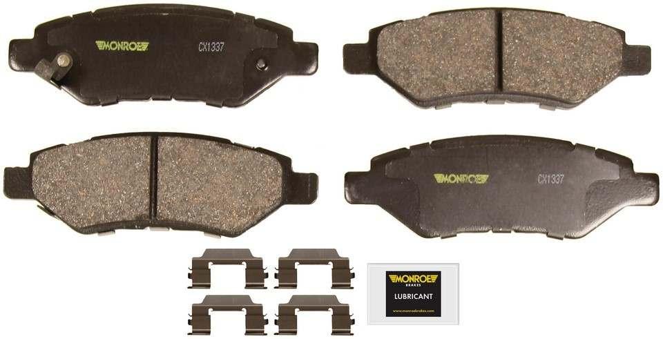 MONROE TOTAL SOLUTION BRAKE PADS - Monroe Total Solution Ceramic Brake Pads (Rear) - M91 CX1337