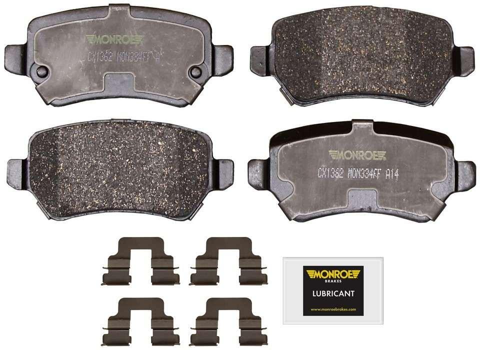 MONROE TOTAL SOLUTION BRAKE PADS - Monroe Total Solution Ceramic Brake Pads (Rear) - M91 CX1362