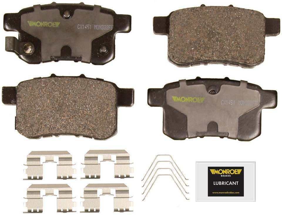 MONROE TOTAL SOLUTION BRAKE PADS - Monroe Total Solution Ceramic Brake Pads (Rear) - M91 CX1451