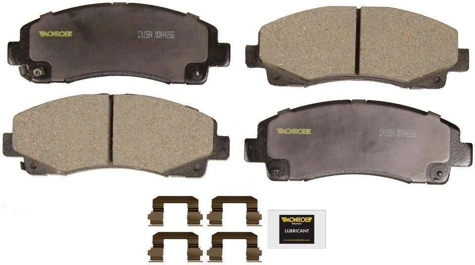 MONROE TOTAL SOLUTION BRAKE PADS - Monroe Total Solution Ceramic Brake Pads (Front) - M91 CX1584