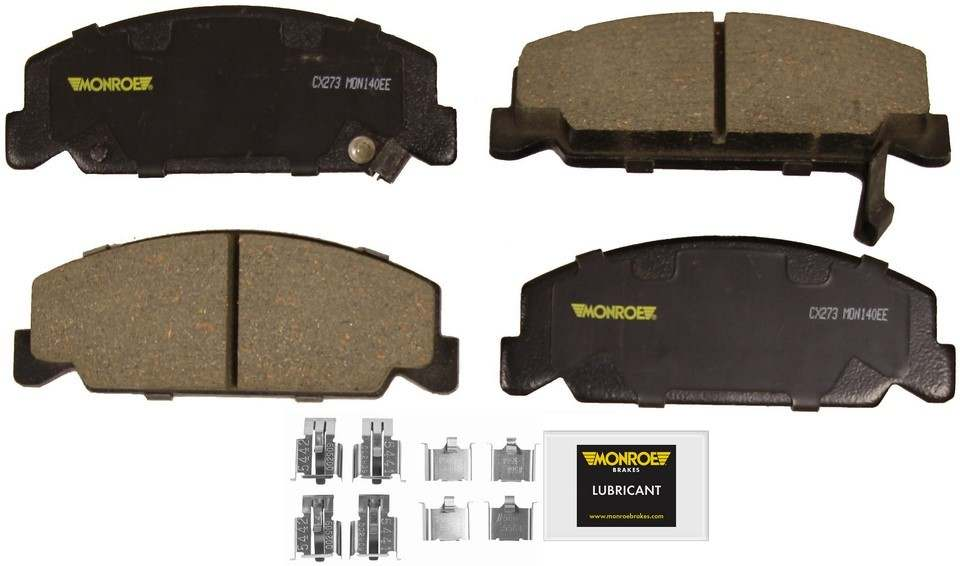 MONROE TOTAL SOLUTION BRAKE PADS - Monroe Total Solution Ceramic Brake Pads (Front) - M91 CX273