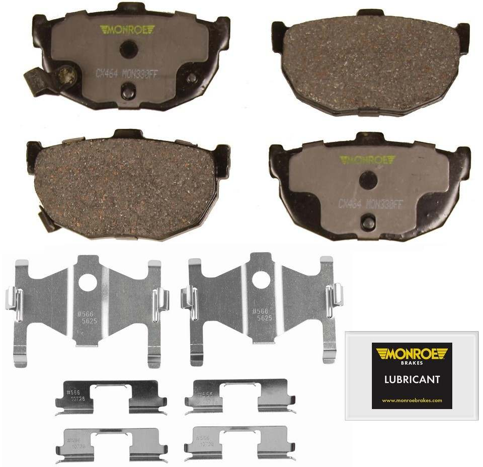 MONROE TOTAL SOLUTION BRAKE PADS - Monroe Total Solution Ceramic Brake Pads (Rear) - M91 CX464