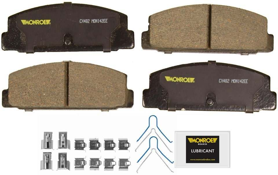 MONROE TOTAL SOLUTION BRAKE PADS - Monroe Total Solution Ceramic Brake Pads (Rear) - M91 CX482