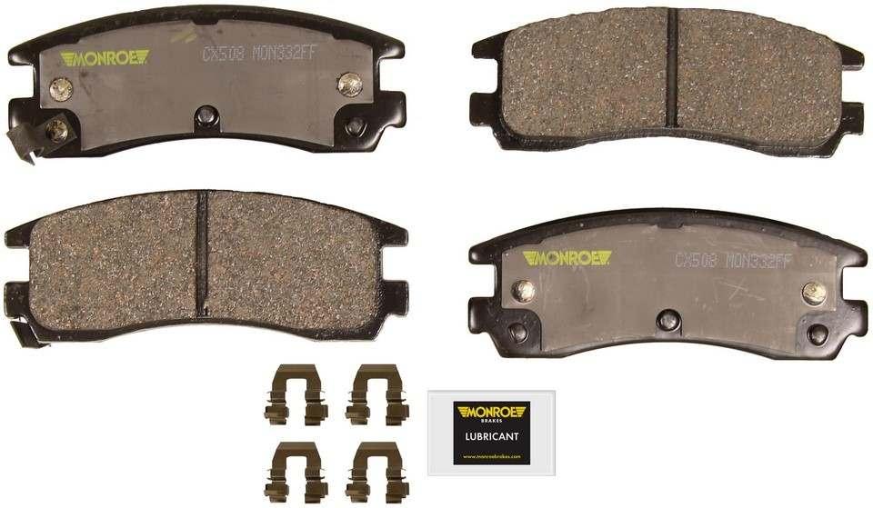 MONROE TOTAL SOLUTION BRAKE PADS - Monroe Total Solution Ceramic Brake Pads (Rear) - M91 CX508