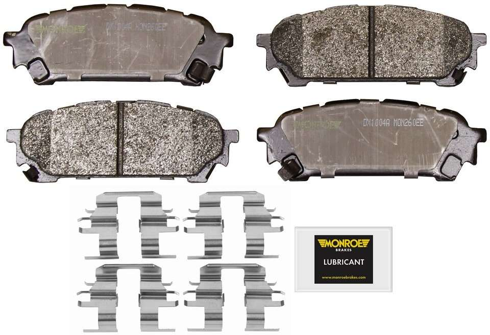 MONROE TOTAL SOLUTION BRAKE PADS - Monroe Total Solution Semi-Metallic Brake Pads (Rear) - M91 DX1004A
