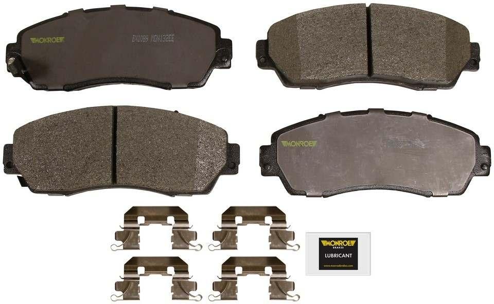 MONROE TOTAL SOLUTION BRAKE PADS - Monroe Total Solution Semi-Metallic Brake Pads (Front) - M91 DX1089