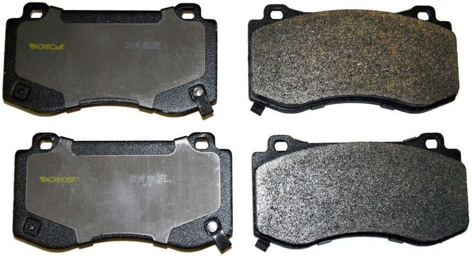 MONROE TOTAL SOLUTION BRAKE PADS - Monroe Total Solution Semi-Metallic Brake Pads (Front) - M91 DX1149