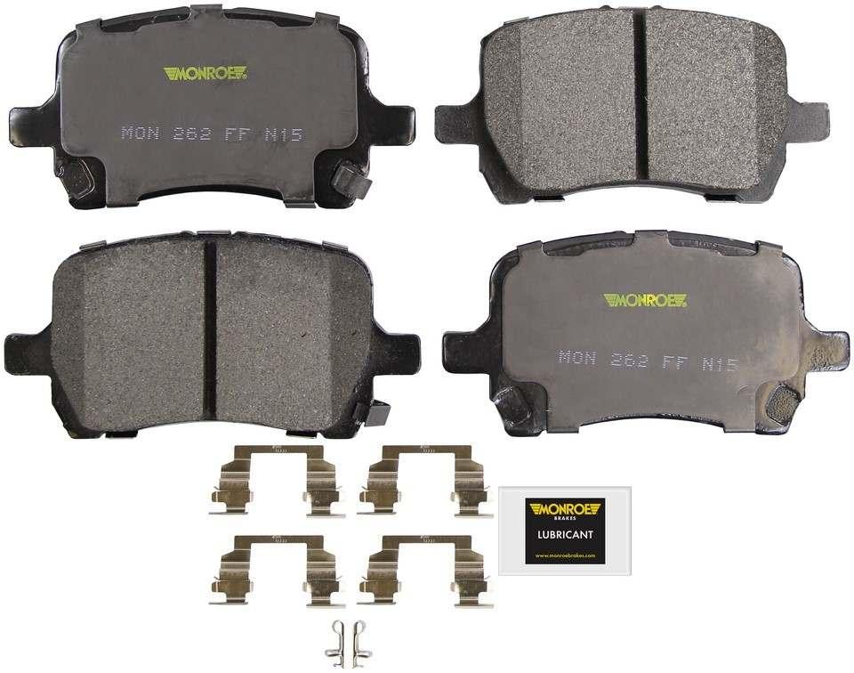 MONROE TOTAL SOLUTION BRAKE PADS - Monroe Total Solution Semi-Metallic Brake Pads (Front) - M91 DX1160