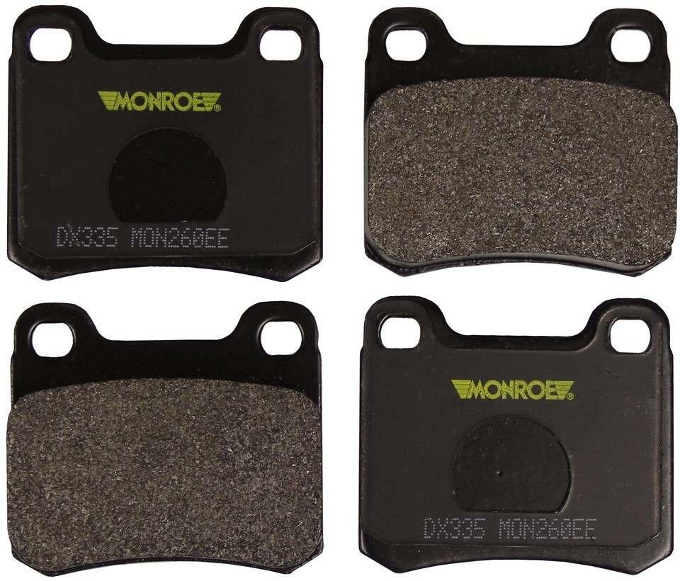 MONROE TOTAL SOLUTION BRAKE PADS - Monroe Total Solution Semi-Metallic Brake Pads - M91 DX335