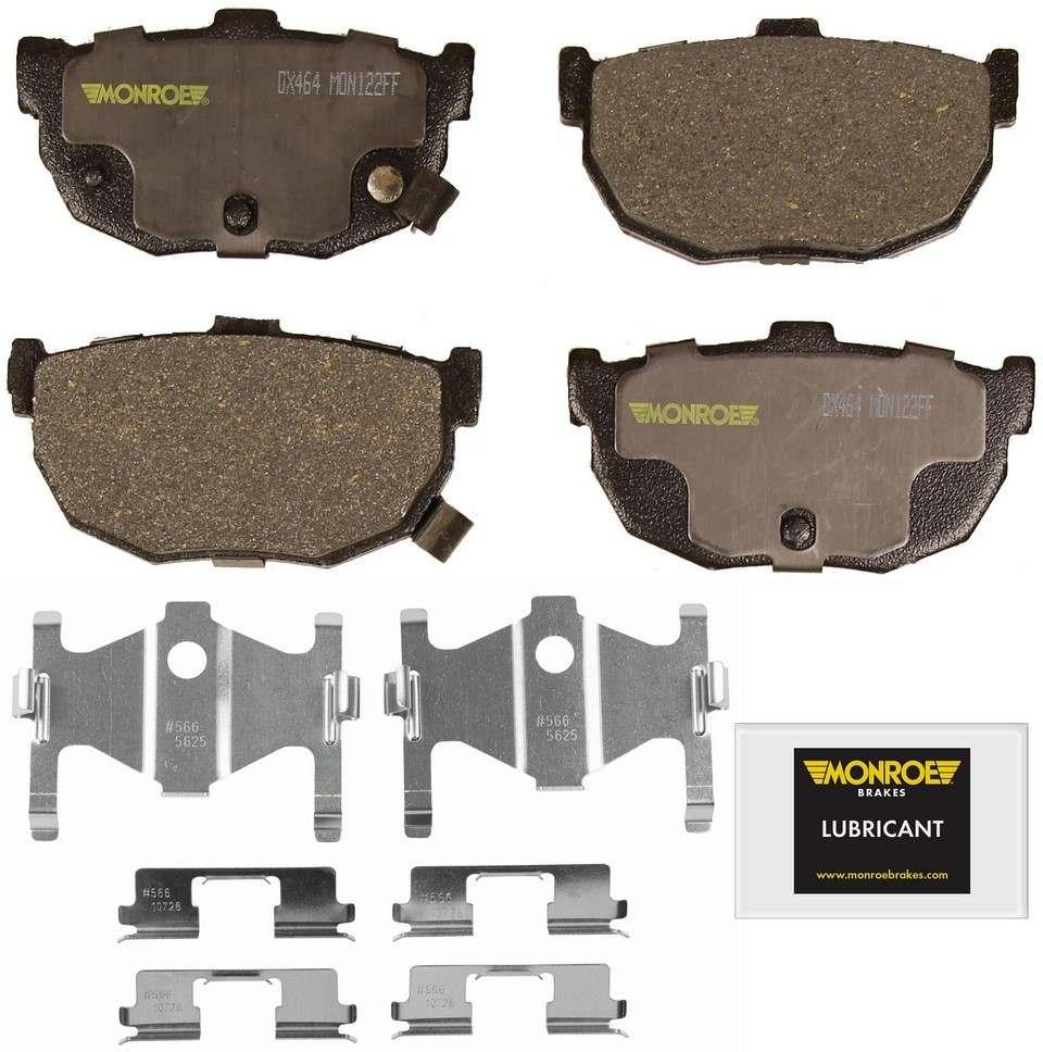 MONROE TOTAL SOLUTION BRAKE PADS - Monroe Total Solution Semi-Metallic Brake Pads (Rear) - M91 DX464