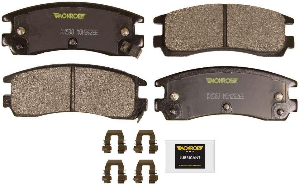 MONROE TOTAL SOLUTION BRAKE PADS - Monroe Total Solution Semi-Metallic Brake Pads (Rear) - M91 DX508