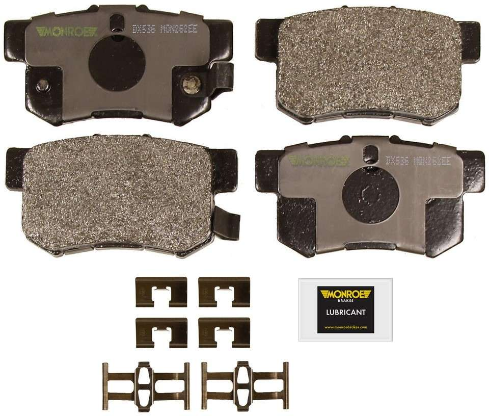 MONROE TOTAL SOLUTION BRAKE PADS - Monroe Total Solution Semi-Metallic Brake Pads (Rear) - M91 DX536