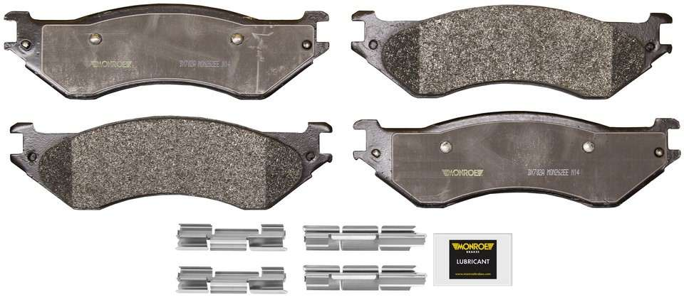 MONROE TOTAL SOLUTION BRAKE PADS - Monroe Total Solution Semi-Metallic Brake Pads (Rear) - M91 DX702A
