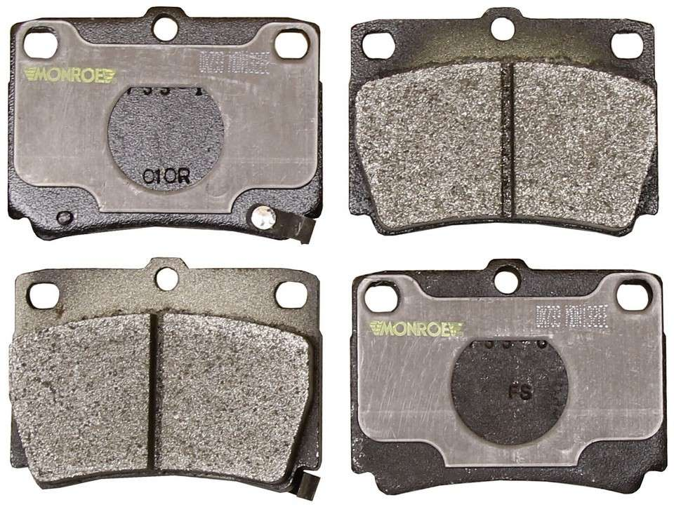 MONROE TOTAL SOLUTION BRAKE PADS - Monroe Total Solution Semi-Metallic Brake Pads (Rear) - M91 DX733
