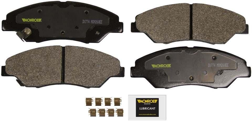 MONROE TOTAL SOLUTION BRAKE PADS - Monroe Total Solution Semi-Metallic Brake Pads (Front) - M91 DX774