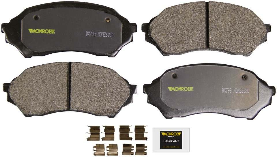 MONROE TOTAL SOLUTION BRAKE PADS - Monroe Total Solution Semi-Metallic Brake Pads (Front) - M91 DX798