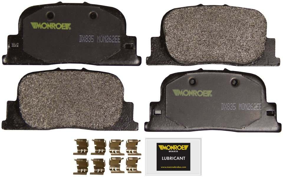 MONROE TOTAL SOLUTION BRAKE PADS - Monroe Total Solution Semi-Metallic Brake Pads (Rear) - M91 DX835