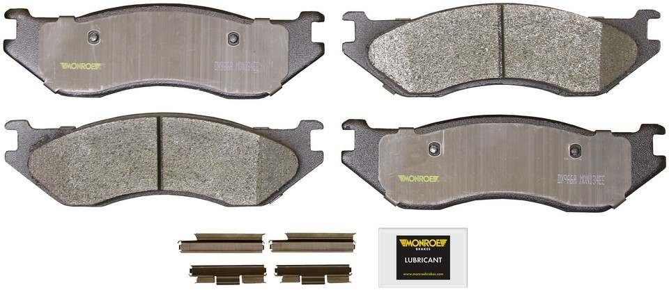MONROE TOTAL SOLUTION BRAKE PADS - Monroe Total Solution Semi-Metallic Brake Pads (Front) - M91 DX966A