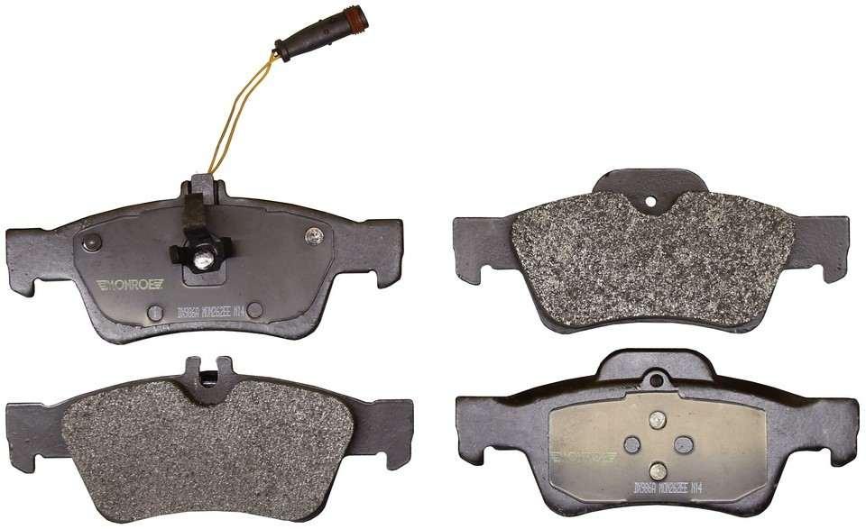MONROE TOTAL SOLUTION BRAKE PADS - Monroe Total Solution Semi-Metallic Brake Pads (Rear) - M91 DX986A