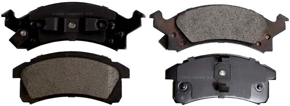 MONROE PROSOLUTION BRAKE PADS - ProSolution Semi-Metallic Brake Pads - M92 FX506