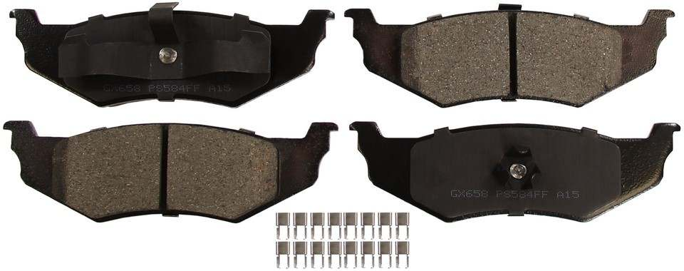MONROE PROSOLUTION BRAKE PADS - ProSolution Ceramic Brake Pads (Rear) - M92 GX658