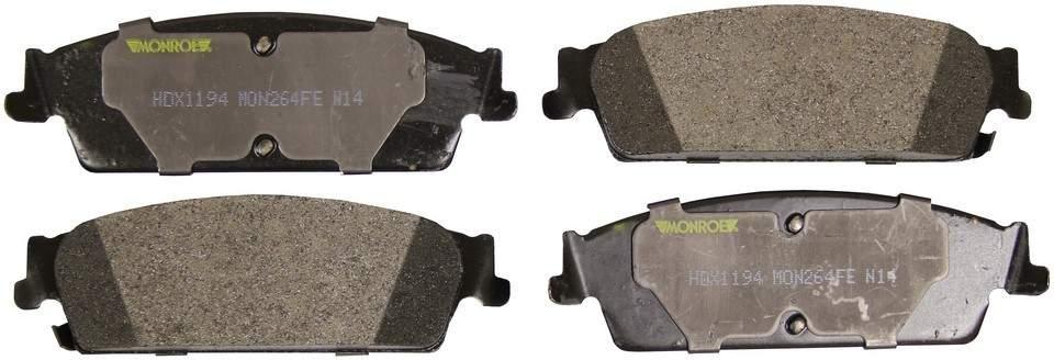 MONROE SEVERE SOLUTION BRAKE PADS - Monroe Brakes Severe Solution Brake Pads - M93 HDX1194