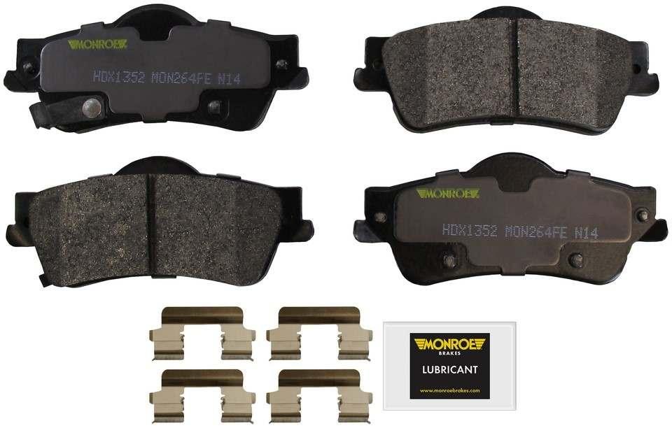 MONROE SEVERE SOLUTION BRAKE PADS - Monroe Brakes Severe Solution Brake Pads - M93 HDX1352