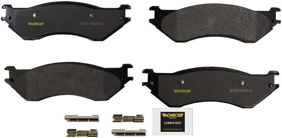 MONROE SEVERE SOLUTION BRAKE PADS - Monroe Brakes Severe Solution Brake Pads - M93 HDX702A