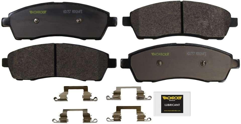 MONROE SEVERE SOLUTION BRAKE PADS - Monroe Brakes Severe Solution Brake Pads - M93 HDX757